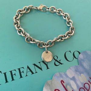 "Tiffany & Co Initial ""A"" rolo link bracelet"